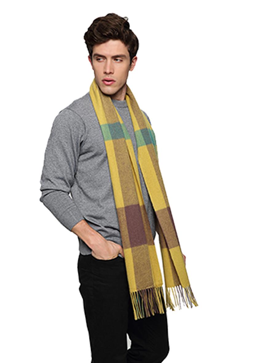 ZH7002 艾格羊毛真丝围巾双人装