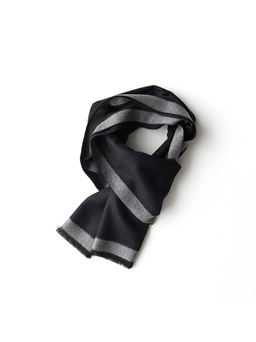 ZH7005 简约主义蚕丝绒围巾双人装