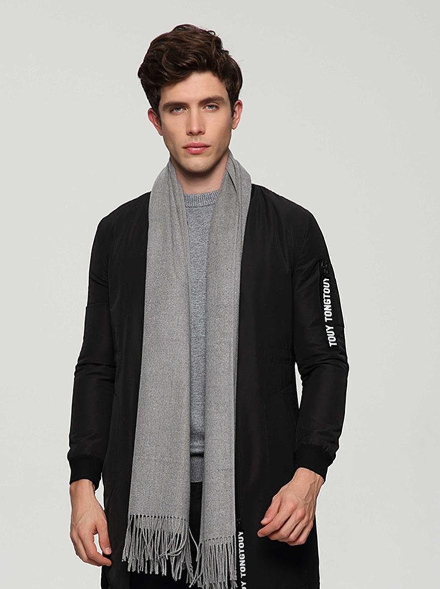 A-ZH7003 素色木代尔围巾披肩双人装