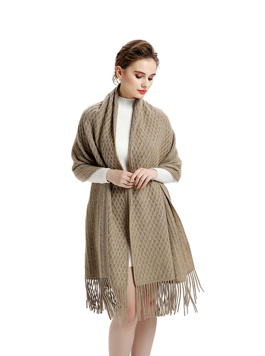 A-D328 奢华针织羊绒披肩