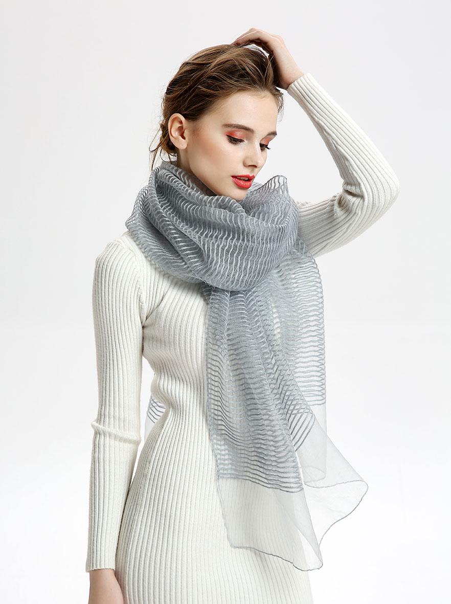 A-D332 纯色魅力丝毛长巾